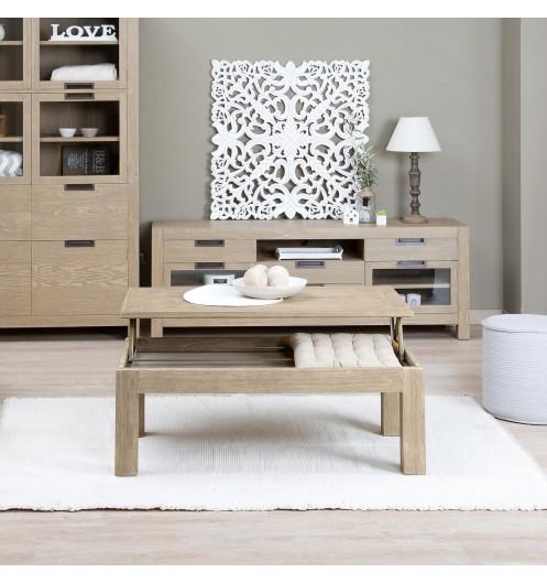 table basse bois clair d co et saveurs. Black Bedroom Furniture Sets. Home Design Ideas