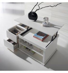 table basse-blanche-relevable-tiroirs-et-plateau-concept