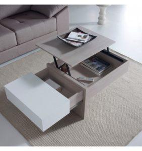 table basse-relevable-design-chene-blanchi-et-blanc-concept
