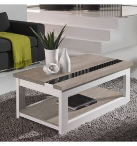 table basse-relevable-plateau-chene-blanchi-et-pied-blanc