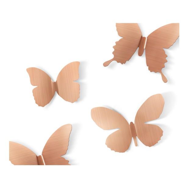 D coration murale papillons cuivr s deco murale umbra for Decoration murale umbra