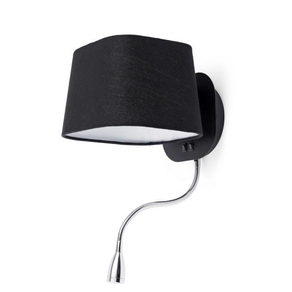 applique luminaire noire liseuse led lampes design faro. Black Bedroom Furniture Sets. Home Design Ideas