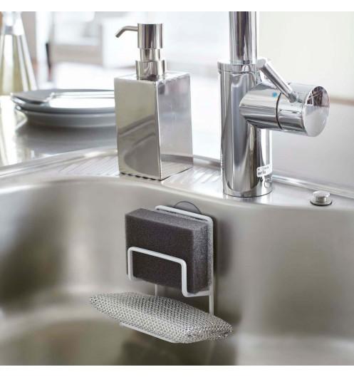 Porte ponge blanc ventouse range eponge pratique et for Ventouse cuisine