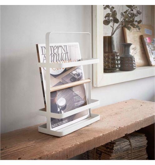 Range revue design metal blanc porte magazine pas cher for Porte revue design
