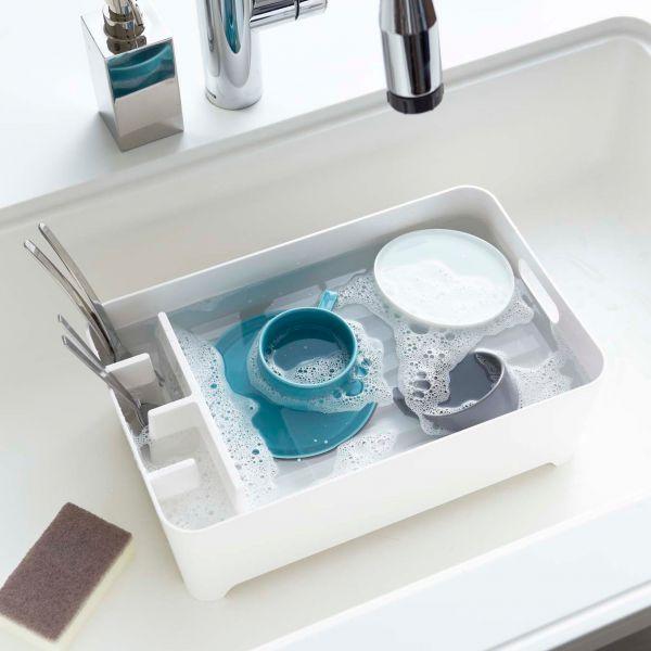 egouttoir vaisselle blanc avec compartiments egouttoir compact design et pas cher. Black Bedroom Furniture Sets. Home Design Ideas