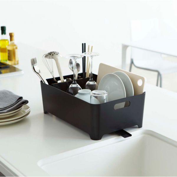 Egouttoir vaisselle noir en plastique egouttoir - Egouttoir a vaisselle inox ikea ...