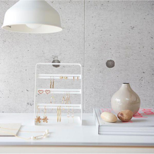 arbre bijoux design blanc acier porte boucle d 39 oreille pas cher. Black Bedroom Furniture Sets. Home Design Ideas
