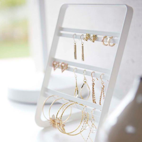 Arbre bijoux design blanc acier porte boucle d 39 oreille for Porte boucle d oreille