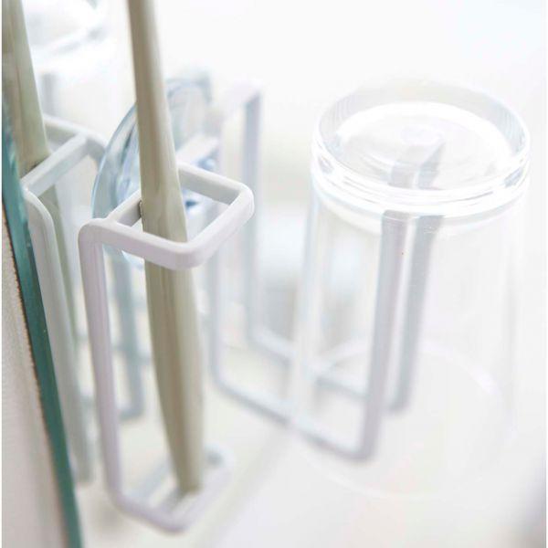 Porte brosse dents blanc ventouse original set salle de bain design petit prix - Porte brosse a dent ventouse ...