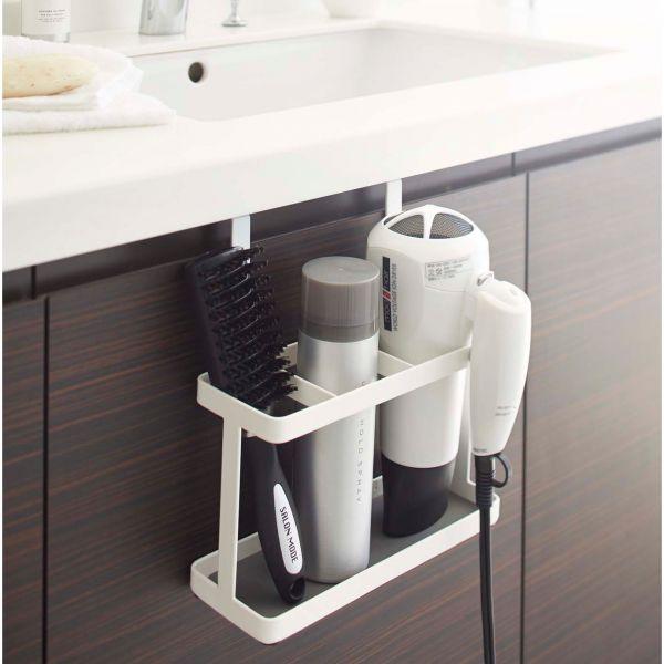 porte seche cheveux et lisseurs blanc rangement salle de. Black Bedroom Furniture Sets. Home Design Ideas