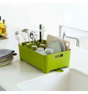 Egouttoir vaisselle vert compact Yamazaki