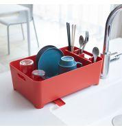 Egouttoir vaisselle rouge compact Yamazaki