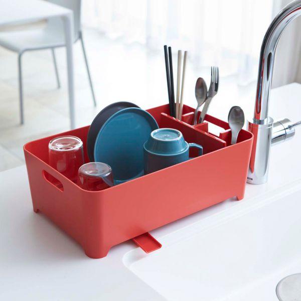 Egouttoir vaisselle rouge pratique avec goutti re gouttoir vaisselle pou - Petit egouttoir vaisselle ...