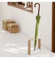 Porte parapluie rectangulaire bois Yamazaki