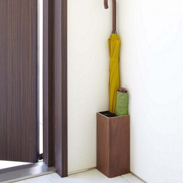 Porte parapluie design bois et acier rangement pour l 39 entr e de la maison - Porte parapluie design ...
