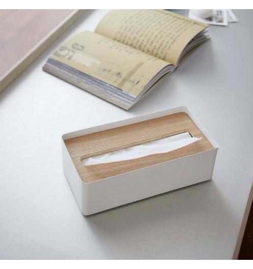 boite a mouchoir bois et metal blanc boite de mouchoirs design et pas cher. Black Bedroom Furniture Sets. Home Design Ideas