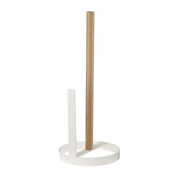Derouleur papier cuisine design bois et blanc porte - Porte rouleau papier toilette design ...