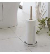 Porte papier toilette bois et metal blanc Tosca Yamazaki