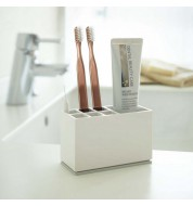 Porte brosse à dents blanc compartimenté Yamazaki