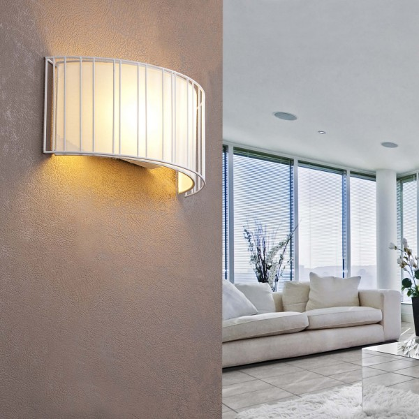 Applique murale originale blanche luminaires faro for Murale design