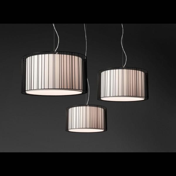 Suspension luminaire blanc design original lampes modernes faro - Suspension noire design ...