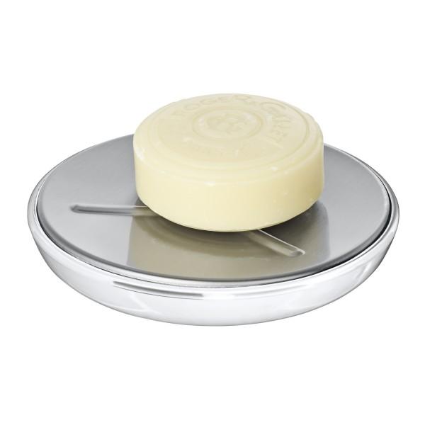 Porte savon wenko porte savon design gris for Accessoire salle de bain porte savon