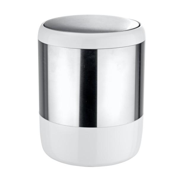 Poubelle salle de bain petite poubelle grise - Petite poubelle de salle de bain ...