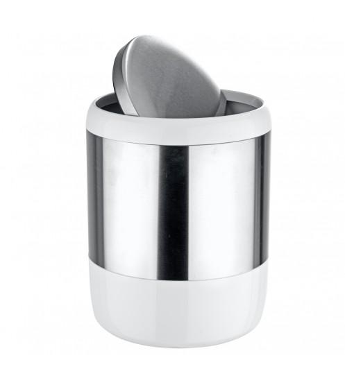 Poubelle salle de bain petite poubelle grise for Petite poubelle de cuisine