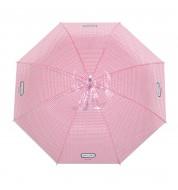 Parapluie A l'abri rose Derrière la porte