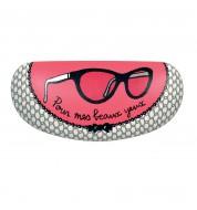 Etui à lunettes Miss Chic Noir/Rose Derrière la porte