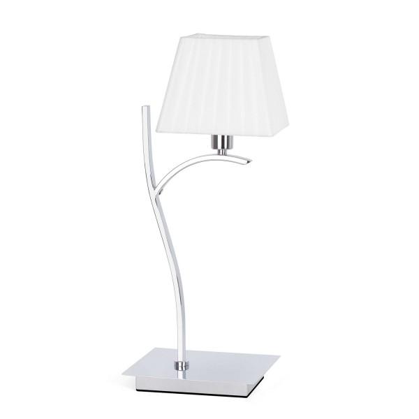 Lmape de chevet blanche chrome lampes faro for Lampe a poser blanche
