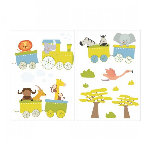 Stickers enfant train stickers chambre enfant - Stickers repositionnables chambre bebe ...