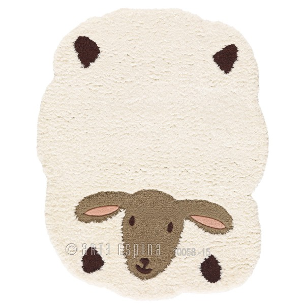 tapis enfant mouton blanc tapis bebe animal. Black Bedroom Furniture Sets. Home Design Ideas