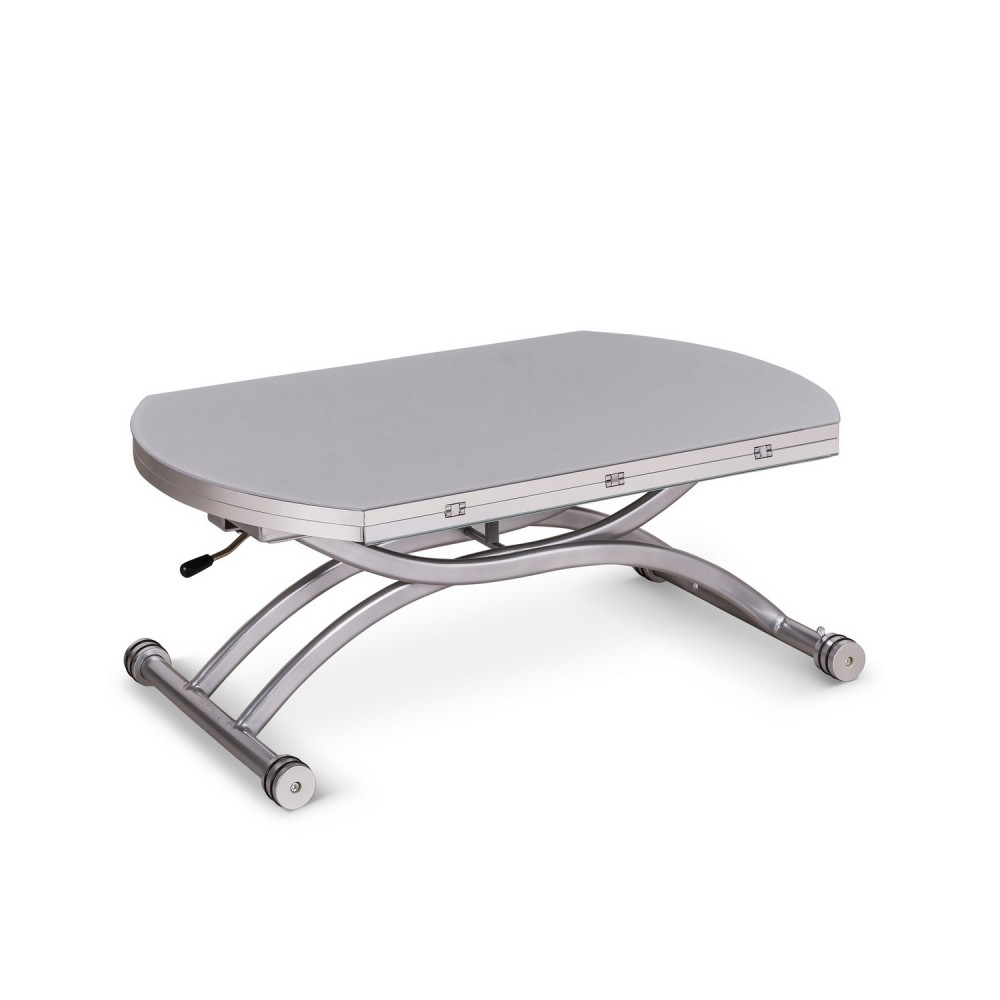 Table basse blanche design relevable tables convertibles table relevable exte - Table basse relevable blanche ...