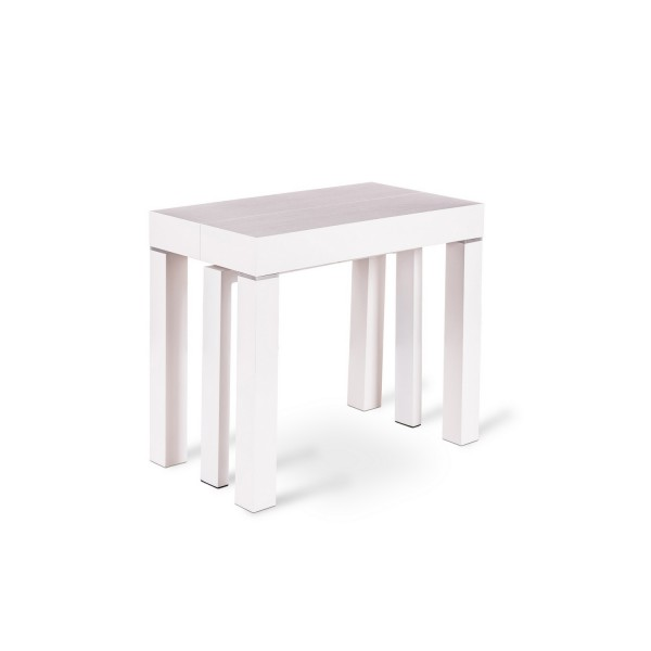 console table manger blanche console m lamin. Black Bedroom Furniture Sets. Home Design Ideas