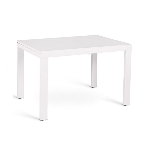 Table a manger design blanche table salle a manger for Table blanche extensible