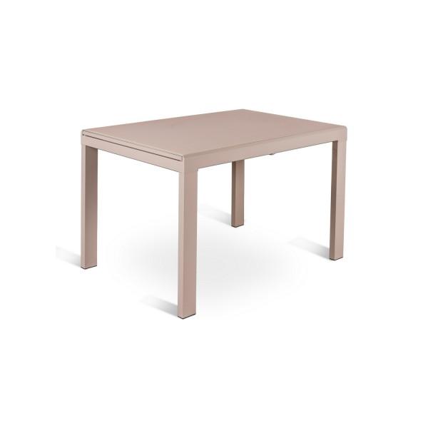 Table a rallonge marron design table originale - Table a manger extensible ...