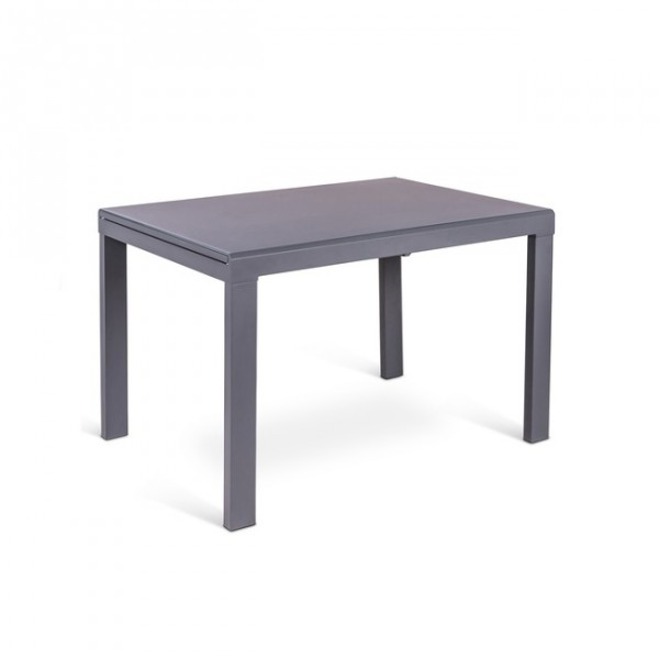 Table a manger grise maison design for Table manger extensible