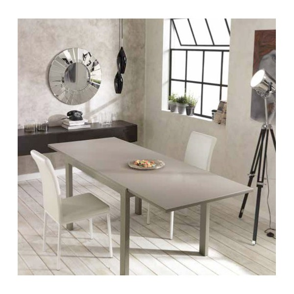 Table a manger design extensible tables amovibles - Table de salle a manger grise ...