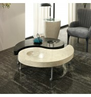 Table basse design Ying et Yang