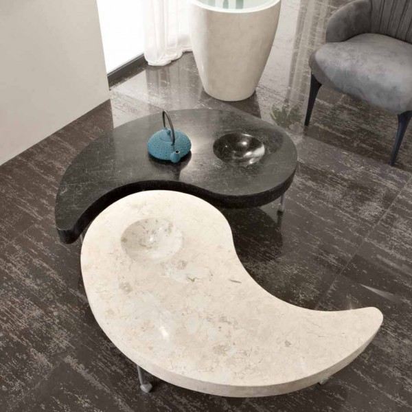Table basse salon ying et yang table design for Deco ying yang