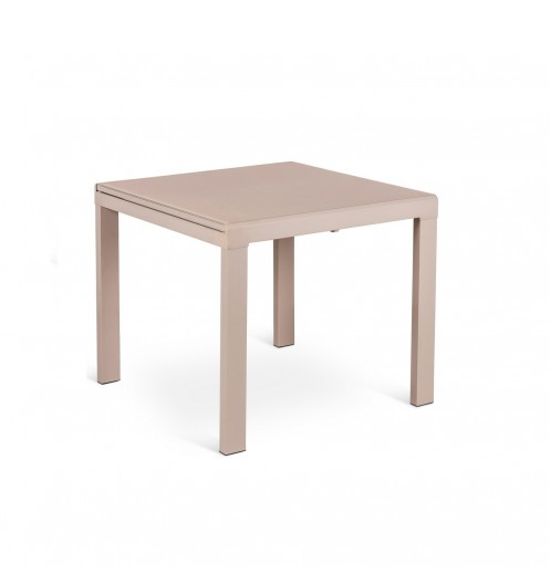Table a rallonge salle a manger marron tables design for Table carree avec rallonge