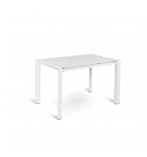 Table manger extensible blanche table originale a rallonge for Table blanche rallonge