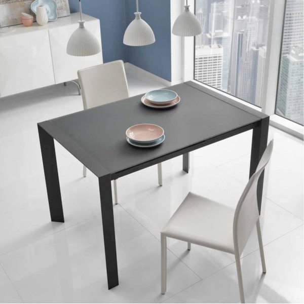 Table manger grise a rallonge table design - Table salle a manger grise ...
