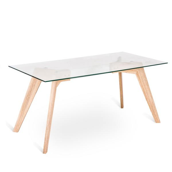Table manger design transparente table originale for Table salle a manger bois et verre
