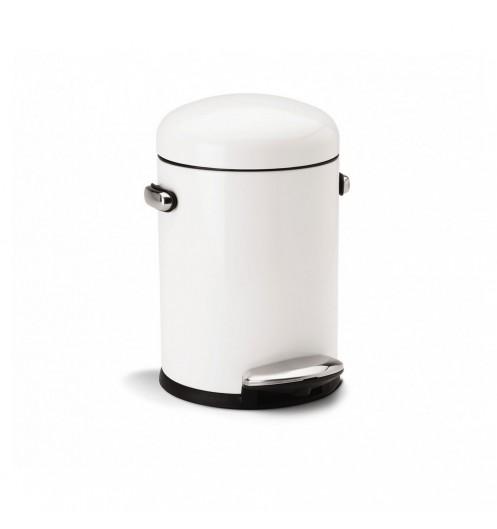 Poubelle salle de bain petite poubelle p dale blanche for Poubelle salle de bain retro