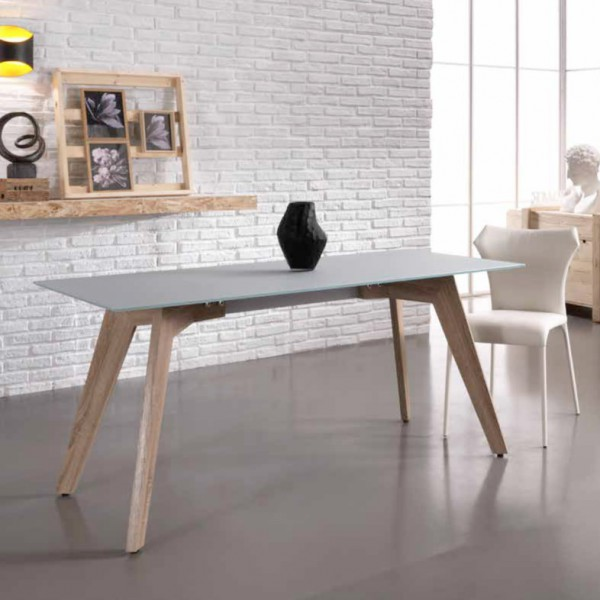 Table salle a manger design table manger for Salle a manger blanche design