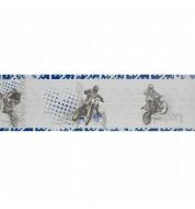 Frise adhésive Motocross bleue