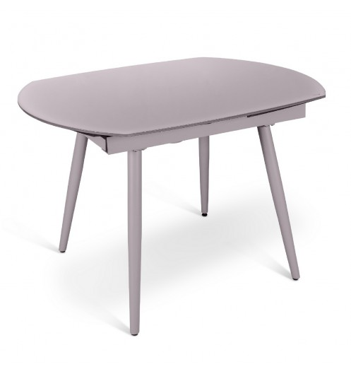 Console extensible verre table de salon for Table ovale verre extensible