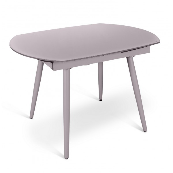 Console extensible verre table de salon - Table ovale verre extensible ...